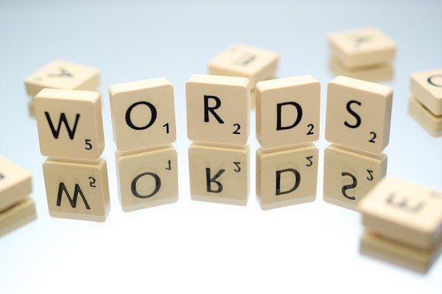 Scrabble tiles spelling 'Words'