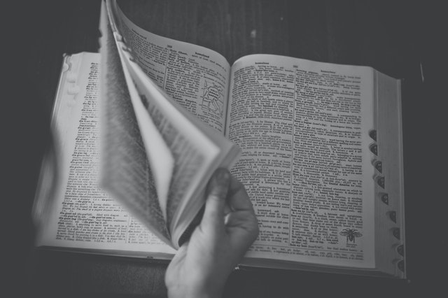flicking pages in a dictionary