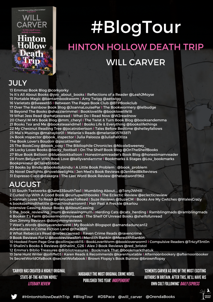 Hinton Hollow Blog Tour poster