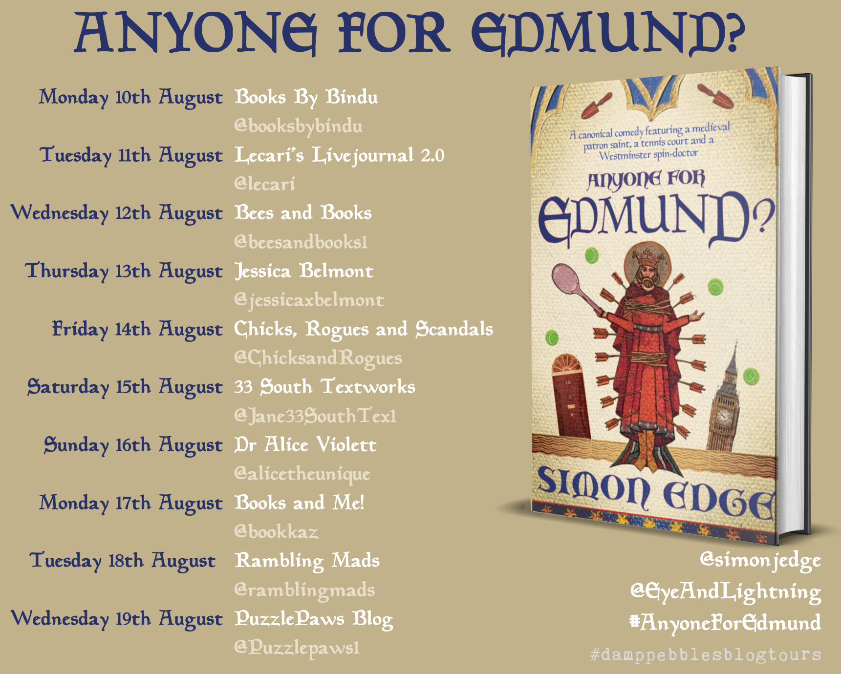 Anyone for Edmund? Blog Tour
