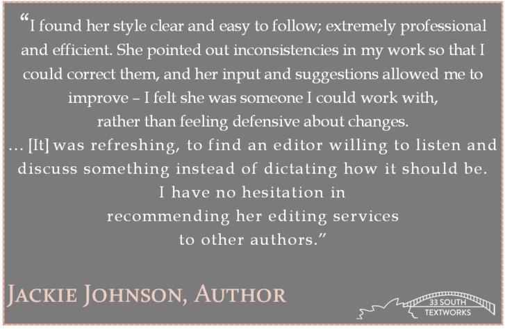 Jackie Johnson, author (publishes under J.M. Johnson)