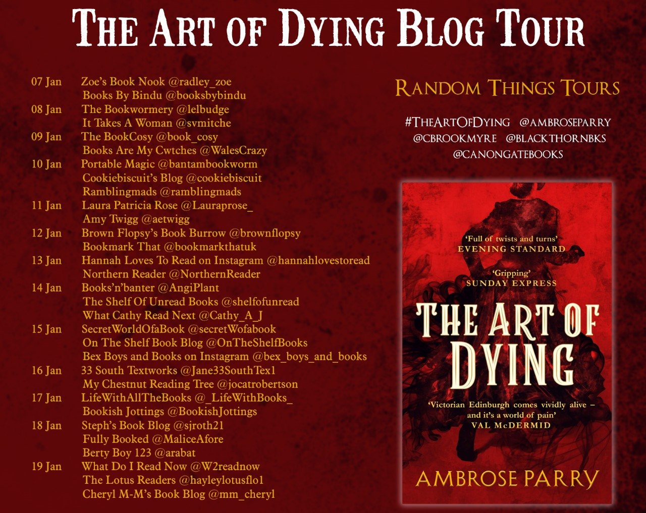 Blog Tour for The Art of Dying