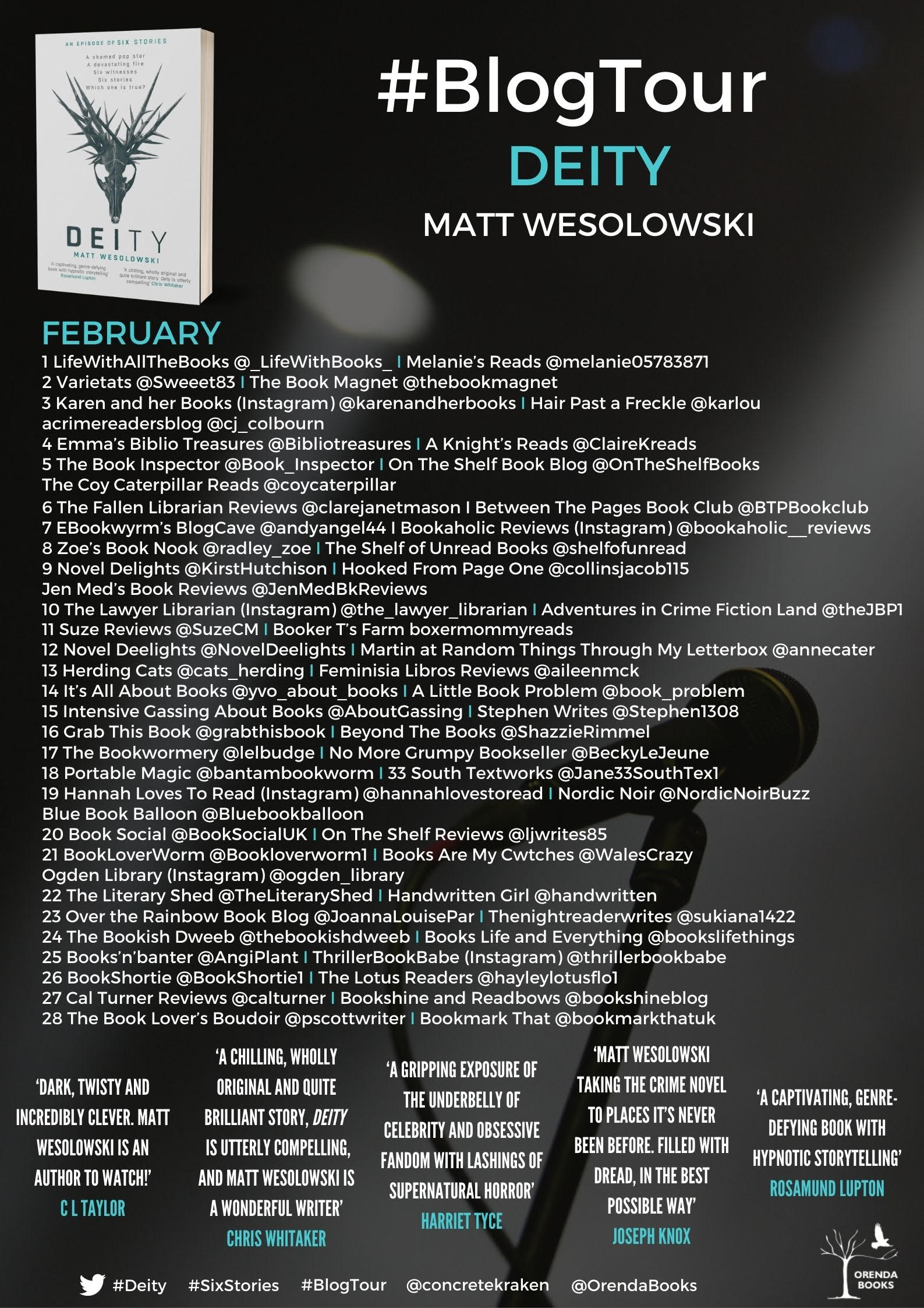 The Blog Tour stops for Deity