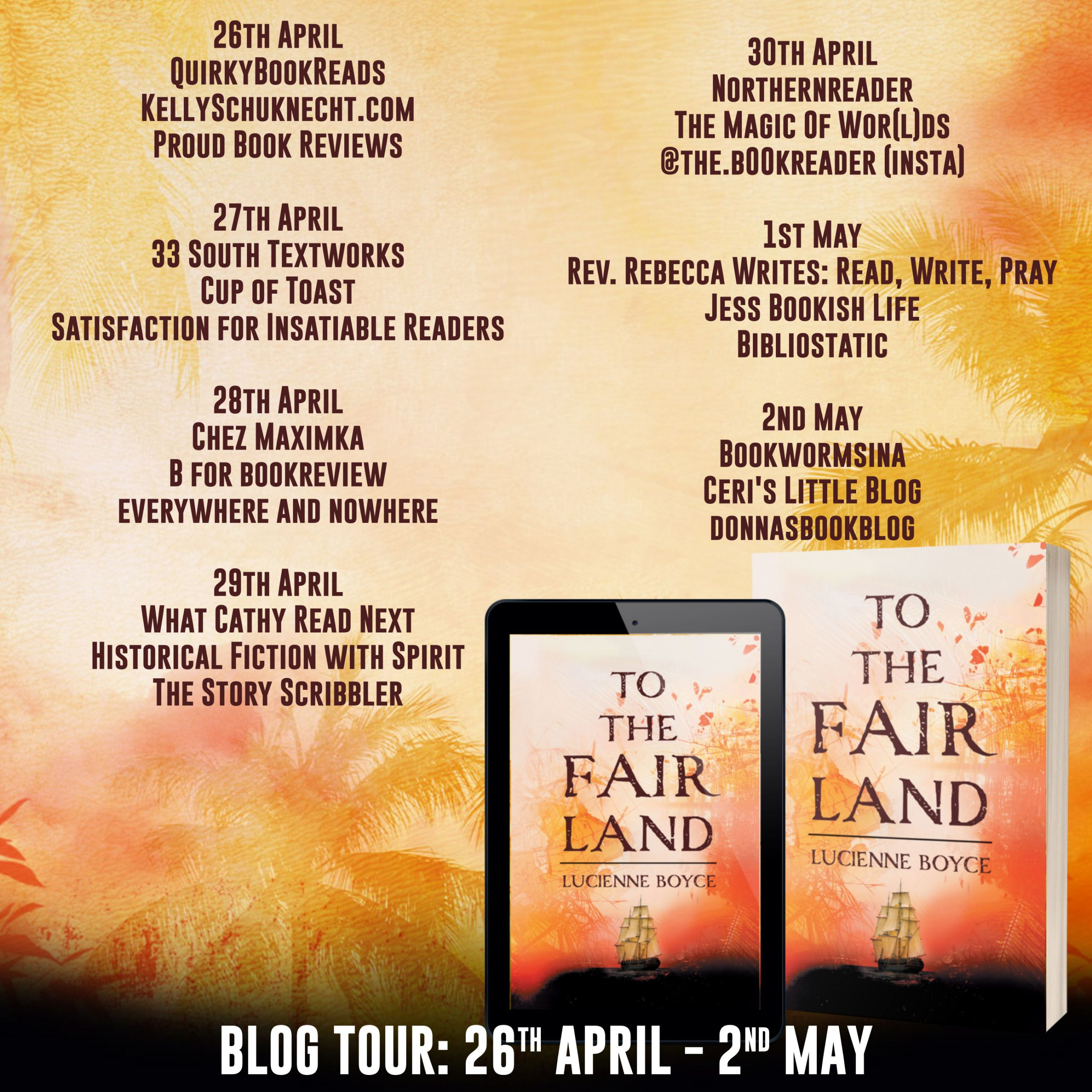 Blog Tour Stops for To The Fair Land