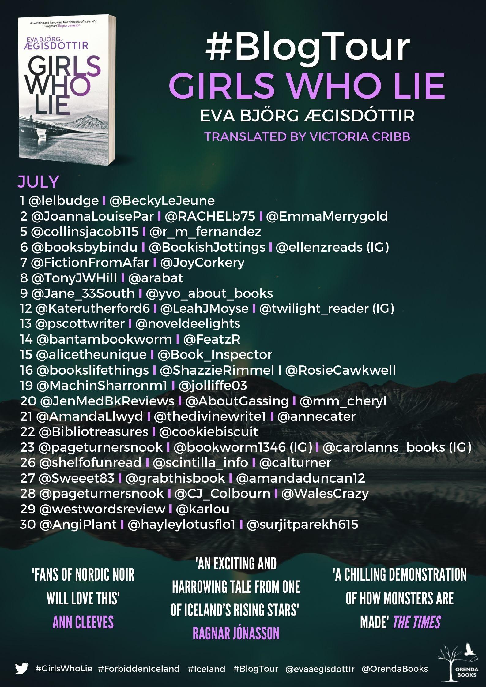 The Girls Who Lie Blog Tour